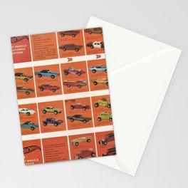 1969 Hot Wheels Redline Catalog Poster No 8 Stationery Cards