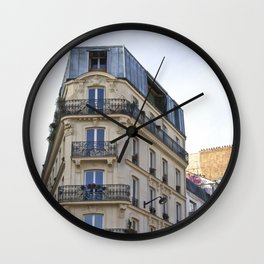Living in Paris Wall Clock