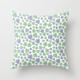 Leafy Pattern Throw Pillow