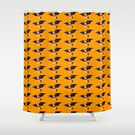 Candy Corn Bat Shower Curtain