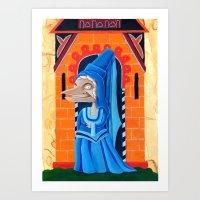 federico babina Art Prints featuring La fata - L'Epoca di Federico II by Francesca Cosanti