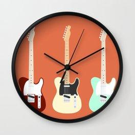 Flat Telecaster Wall Clock