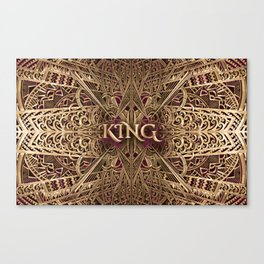 Rose Gold King Canvas Print