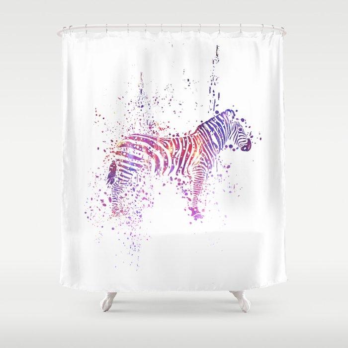 Cosmic Zebra Shower Curtain