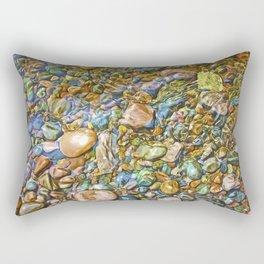 Baptism River Rocks Rectangular Pillow