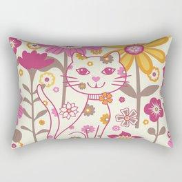 Garden Cat Rectangular Pillow