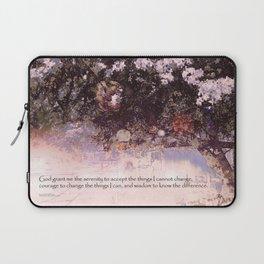 Serenity Prayer Blossoms and Lanterns Laptop Sleeve