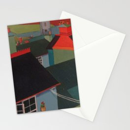 Red on blue Stationery Cards