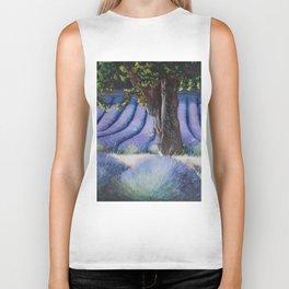 Lavender Field with Apple Tree Biker Tank