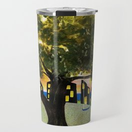The Tree Swing on the Hill Travel Mug
