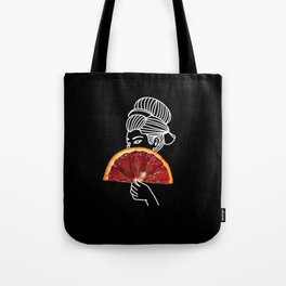 Blood Orange Geisha Tote Bag