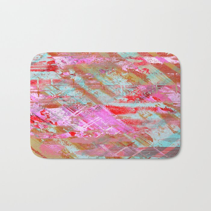 Confidence - Abstract, textured oil painting Bath Mat