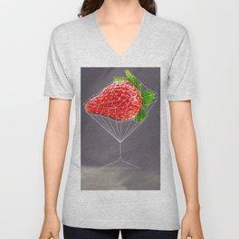 Strawberry cocktail  Unisex V-Neck