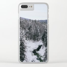 Winter in Quechee Gorge, VT Clear iPhone Case