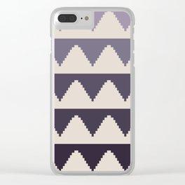 Geometric Pyramid Pattern - Purple Gradient Clear iPhone Case