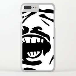 Face Scream - M Clear iPhone Case