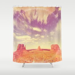 Navajo Country - America As Vintage Album Art Shower Curtain