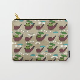 Smoking frog pattern Carry-All Pouch