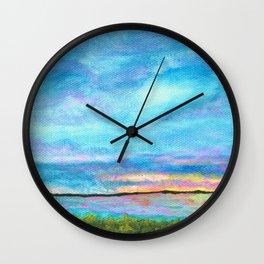 Good Morning, Beach House Sunrise Wall Clock