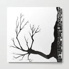 Tree City Metal Print