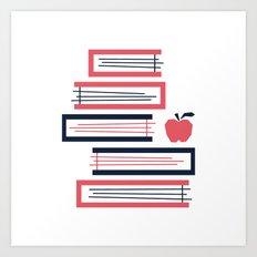 Stacked Books Art Print