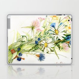Bouquet of Wildflowers Original Colored Pencil Drawing Laptop & iPad Skin