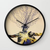 doctor who Wall Clocks featuring Doctor Who by Laura
