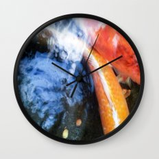 Koi Abstraction 004 Wall Clock