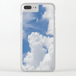 Fluffy Puffy Clouds in the Florida Sky Clear iPhone Case