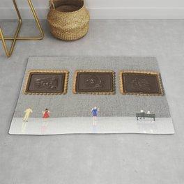 museum of chocolate cookies Rug