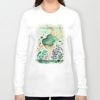 diver Long Sleeve T-shirts featuring Diver by Jenny Jordahl