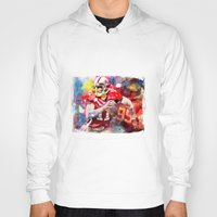 sport Hoodies featuring sport art- american football by yossikotler