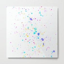Artful Splatter Metal Print