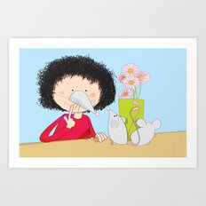 Acting like mice.... Art Print