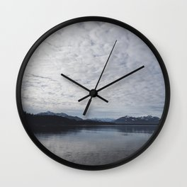Lake and mountains - High and low - Landscape Photography Wall Clock