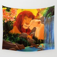 simba Wall Tapestries featuring Can you feel the love tonight ? by Studinano by Shou'