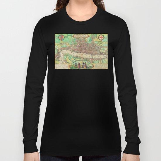 A Modern Map of London Long Sleeve T-shirt
