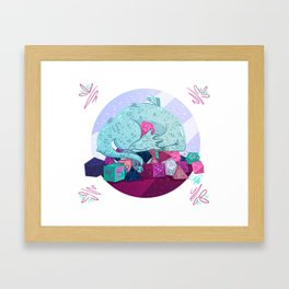 Dragon dice hoarder Framed Art Print