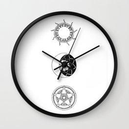 Sun, Moon and Star Mandalas Wall Clock