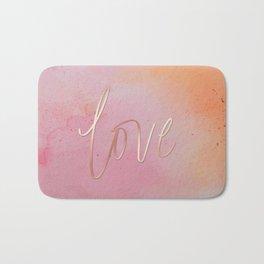 Love in the Clouds - Pink Bath Mat