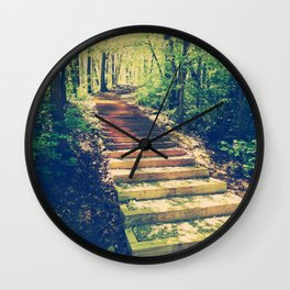 Stairway Into The Forest Wall Clock