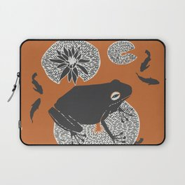 Frog on a Lily Pad Laptop Sleeve