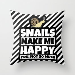 Snail Lover Gifts - Funny Snails Animal Humor Throw Pillow
