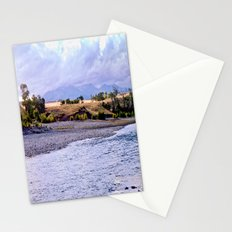 Camping on the Yellowstone River Stationery Cards