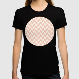 Pink & Yellow Summer Chevron Pattern T-shirt