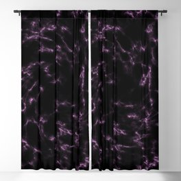 Pink and Black Marble Blackout Curtain