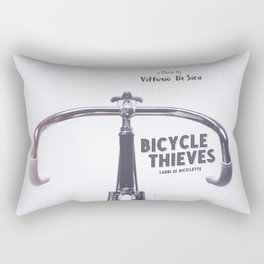 Bicycle Thieves - Movie Poster for De Sica's masterpiece. Neorealism film, fine art print. Rectangular Pillow
