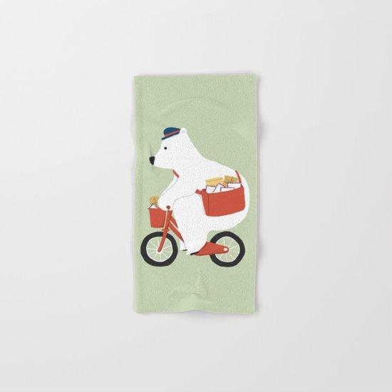 Polar bear postal express  Hand & Bath Towel