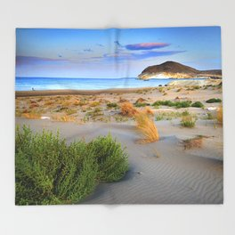 """Genoveses Beach"" Sunset at beach Throw Blanket"