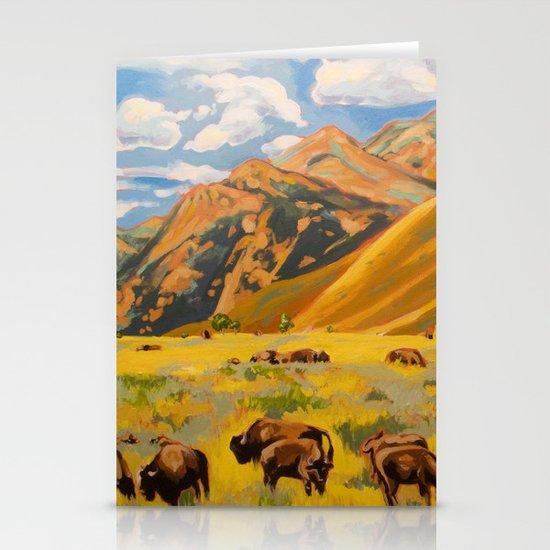Susan's Bison Stationery Cards
